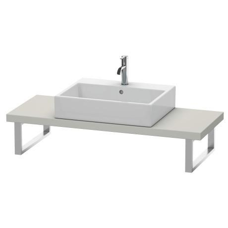 "Console For Above-counter Basin And Vanity Basin Compact, Width Max. 78 3/4""concrete Gray Matte (decor)"
