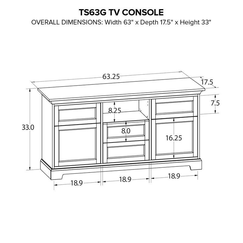TS63G Custom TV Console