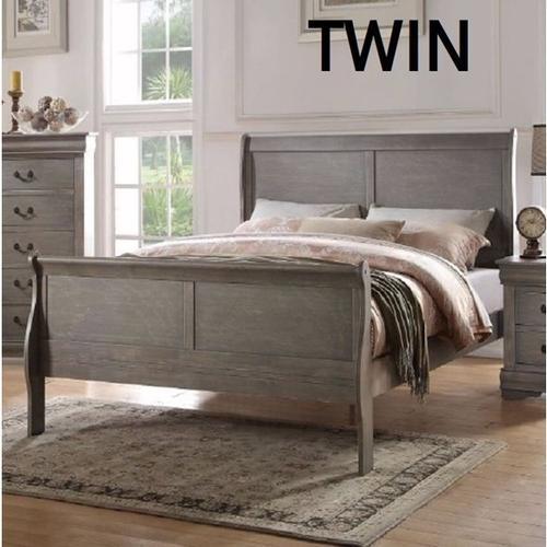 LOUIS PHILIPPE GRAY TWIN BED