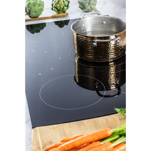36 in. Width Induction Cooktop, European Black Mirror Finish Made with Premium SCHOTT® Glass