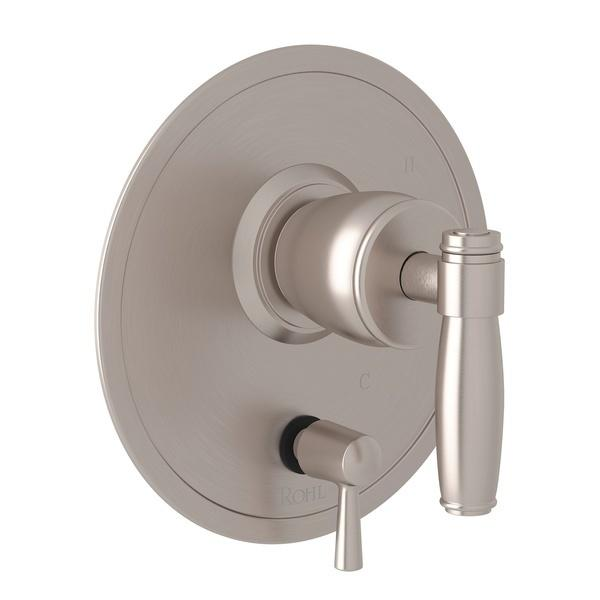 Satin Nickel Zephyr Pressure Balance Trim With Diverter with Metal Lever Zephyr Series Only