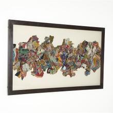 Kantha I Abstract Design w/Metal Frame