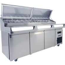 Product Image - 3 Door Prep-table Refrigerator With Stainless Solid Finish (115v/60 Hz Volts /60 Hz Hz)