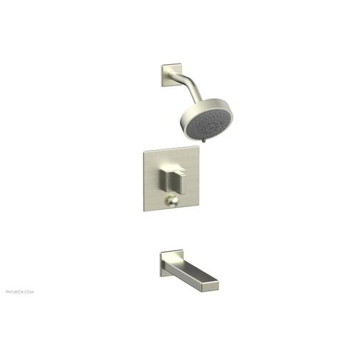 MIX Pressure Balance Tub and Shower Set - Blade Handle 290-26 - Satin Nickel