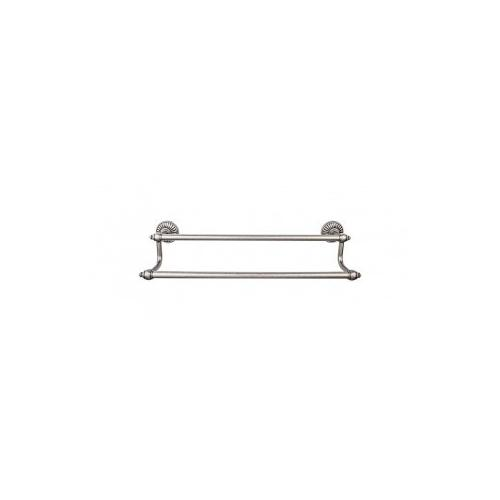 Tuscany Bath Towel Bar 18 Inch Double - Pewter Antique