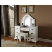 ACME Torian Vanity Desk & Stool - 90026 - White