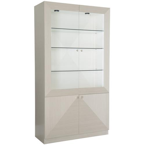 Axiom Display Cabinet in Linear Gray (381), Linear White (381)