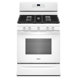 Whirlpool5.0 cu. ft. Freestanding Gas Range with Center Oval Burner White
