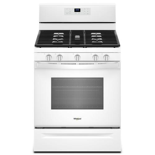 Gallery - 5.0 cu. ft. Freestanding Gas Range with Center Oval Burner White