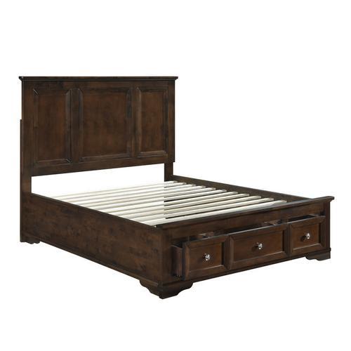 Homelegance - Eastern King Platform Bed with Footboard Storage