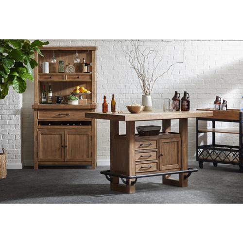 Storage Leg Bar Table Base in Blonde