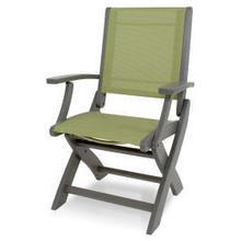 View Product - Coastal Folding Chair in Slate Grey / Kiwi Sling