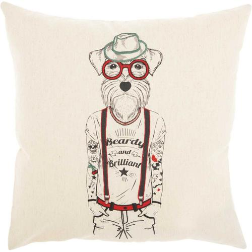 "Trendy, Hip, New-age Rn008 Natural 18"" X 18"" Throw Pillow"