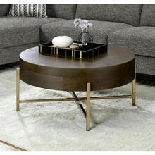 ACME Weyton Coffee Table - 82955 - Dark Oak & Champagne