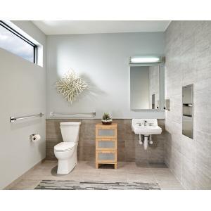 "Delta Faucet Company - Chrome 36"" Angular Modern Decorative ADA Grab Bar"