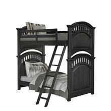 Kids Twin Bunk Bed Ends in Charcoal Brown