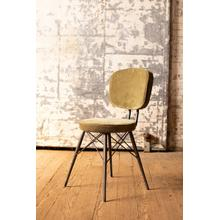See Details - velvet dining chair with iron frame \ avocado
