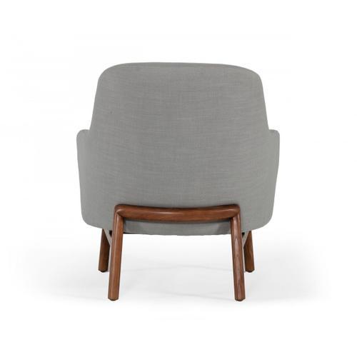 Gallery - Modrest Metzler - Modern Grey Fabric Accent Chair