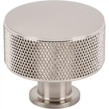 View Product - Beliza Cylinder Knurled Knob 1 3/8 Inch Brushed Satin Nickel