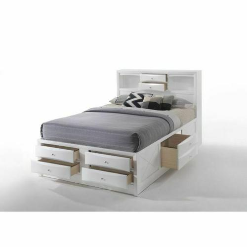 ACME Ireland Eastern King Bed w/Storage - 21696EK - White