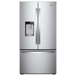 Whirlpool36-inch Wide Counter Depth French Door Refrigerator - 24 cu. ft. Monochromatic Stainless Steel