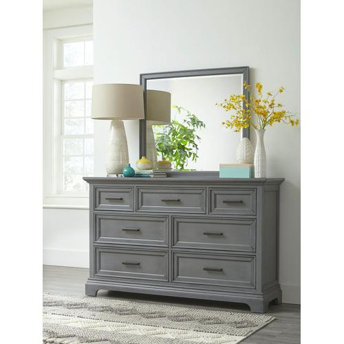 John Thomas Furniture - 7-Drawer Chest in Mineral Gray