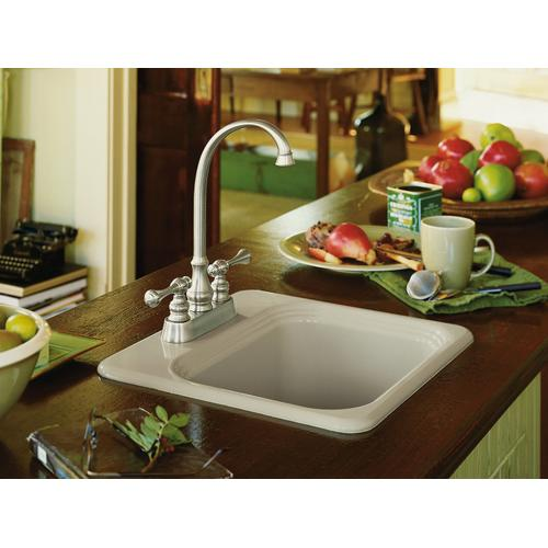 "Black Black 15"" X 15"" X 7-5/8"" Top-mount Bar Sink With 2 Faucet Holes"