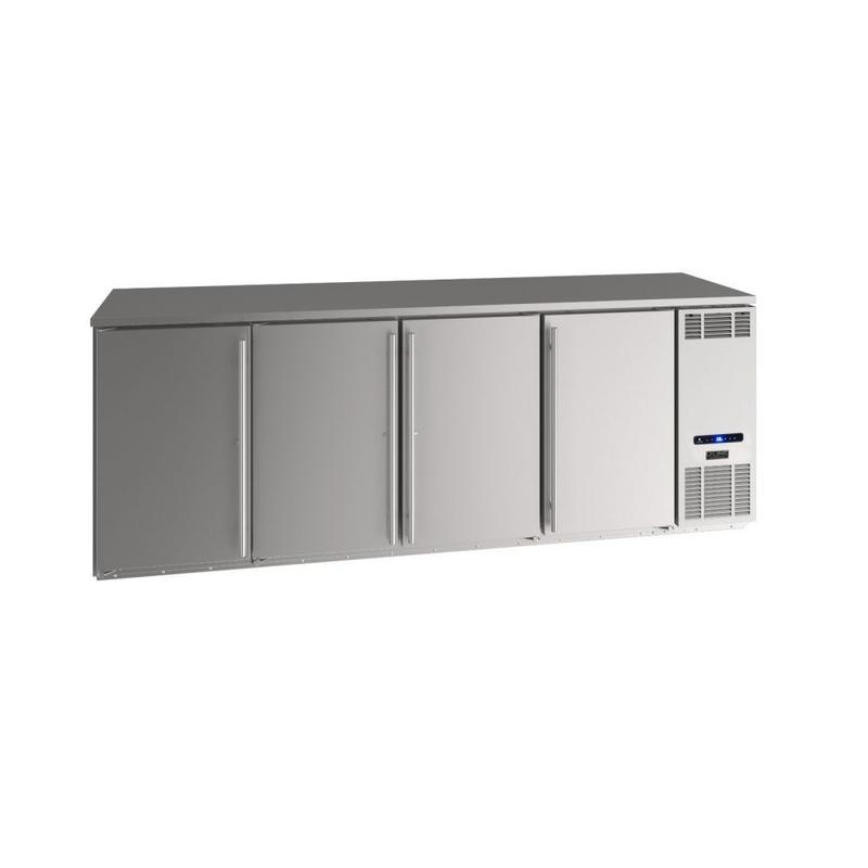 """92"""" Back Bar Refrigeration With Stainless Solid Finish (115 V/60 Hz Volts /60 Hz Hz)"""
