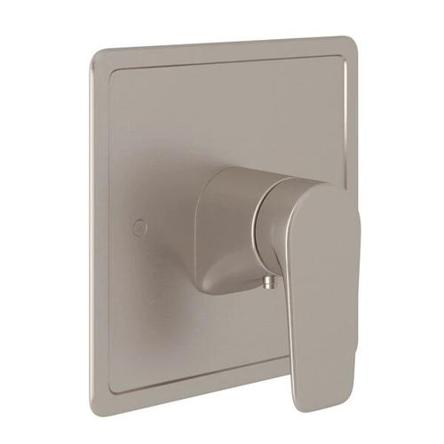 Hoxton Thermostatic Trim Plate without Volume Control - Satin Nickel with Metal Lever Handle