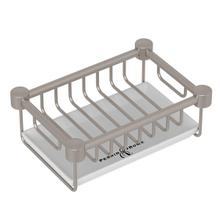 Satin Nickel Perrin & Rowe Holborn Free Standing Porcelain Soap Basket