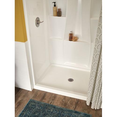 """High Gloss White 48"""" X 34"""" Shower Wall Set"""