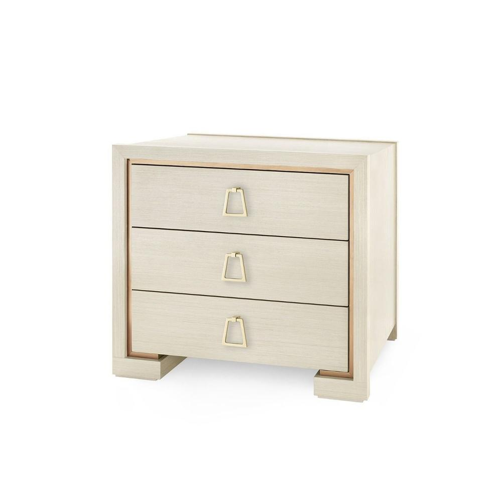Blake 3-Drawer Side Table, Blanched Oak