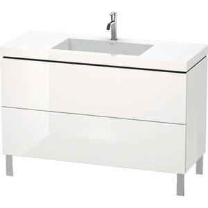 Furniture Washbasin C-bonded With Vanity Floorstanding, White High Gloss (lacquer)