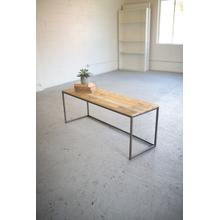 See Details - iron & recycled wood bench