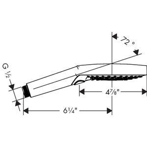 Brushed Nickel Handshower 120 3-Jet PowderRain, 2.5 GPM