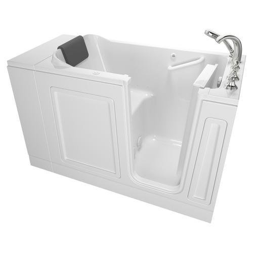 Luxury Series 28x48-inch Right Drain Walk-in Tub Air Spa with Tub Faucet  American Standard - White