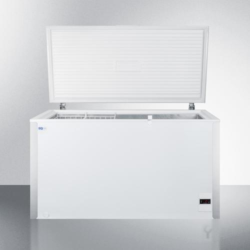 Commercially Listed 13.1 CU.FT. Frost-free Chest Freezer In White With Digital Thermostat for General Purpose Storage; Replaces Scff120