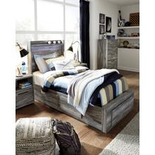 View Product - Baystorm - Gray 5 Piece Bed (Twin)