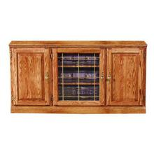 See Details - Forest Designs Traditional Oak TV Stand with Media Storage: 56W x 30H x 21D - 43w