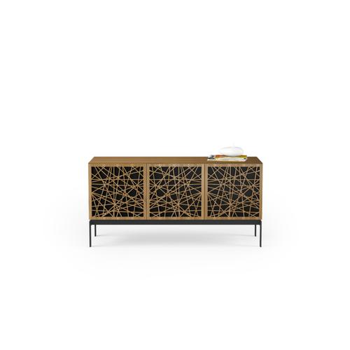 BDI Furniture - Elements 8777 Console Storage Console in Ricochet Doors Natural Walnut