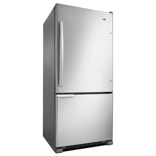 29-inch Wide Bottom-Freezer Refrigerator with Garden Fresh Crisper Bins -- 18 cu. ft. Capacity Stainless Steel