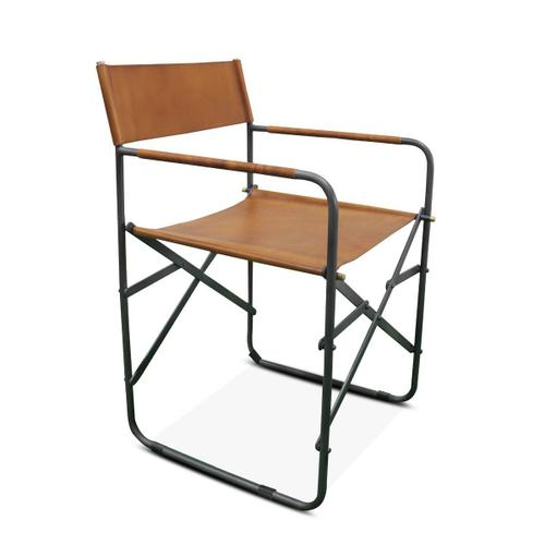 Product Image - New York Campaign Chair Tan Leather