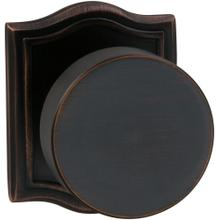 Interior Modern Knob Latchset with Arched Rose in (TB Tuscan Bronze, Lacquered)
