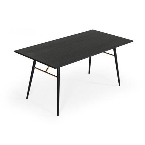 VIG Furniture - Modrest Billy Modern Black Oak & Gold Dining Table