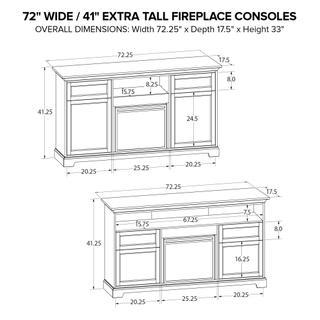 FT72B Extra Tall Fireplace Custom TV Console