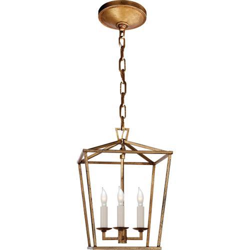 - E. F. Chapman Darlana 3 Light 10 inch Gilded Iron Foyer Pendant Ceiling Light