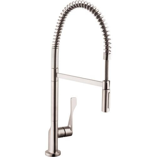 Steel Optic Semi-Pro Kitchen Faucet 2-Spray, 1.75 GPM
