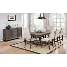 Crestwood Dining Table with Leaf in Antique Oak