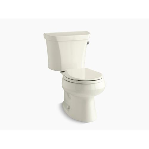Kohler - Biscuit Two-piece Round-front 1.28 Gpf Toilet With Right-hand Trip Lever, Tank Cover Locks, and Insulated Tank