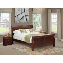 West Furniture Louis Philippe 3 Piece Queen Size Bedroom Set in Phillip Walnut Finish with Queen Bed,2 Nightstands